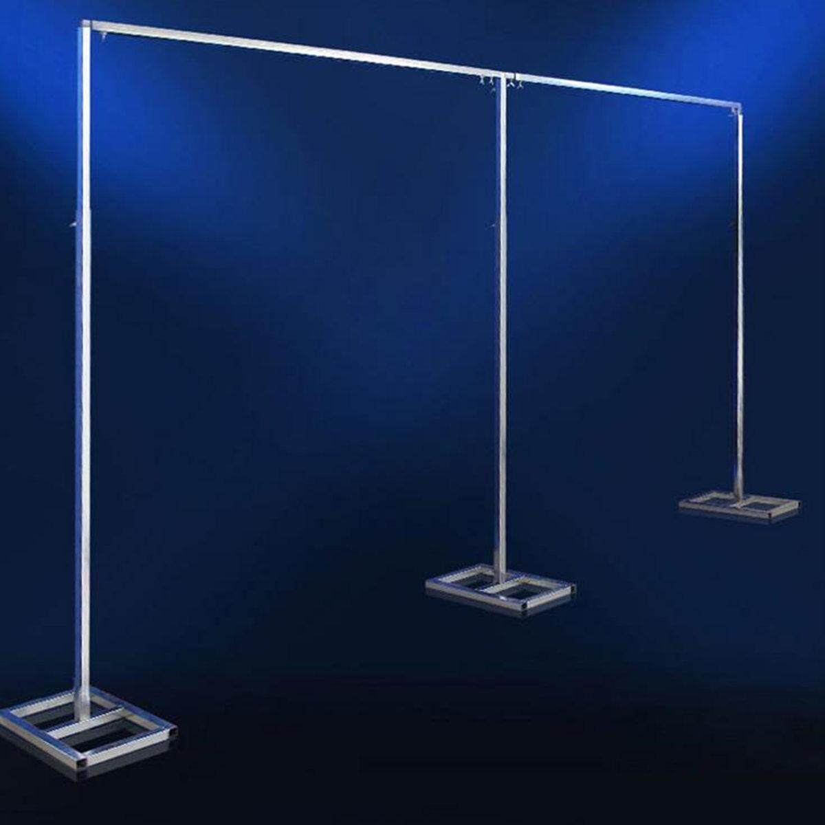 Adjustable Telescopic Curtain Wedding Backdrop Stand Support Frame  3x6m By Moonbeam.