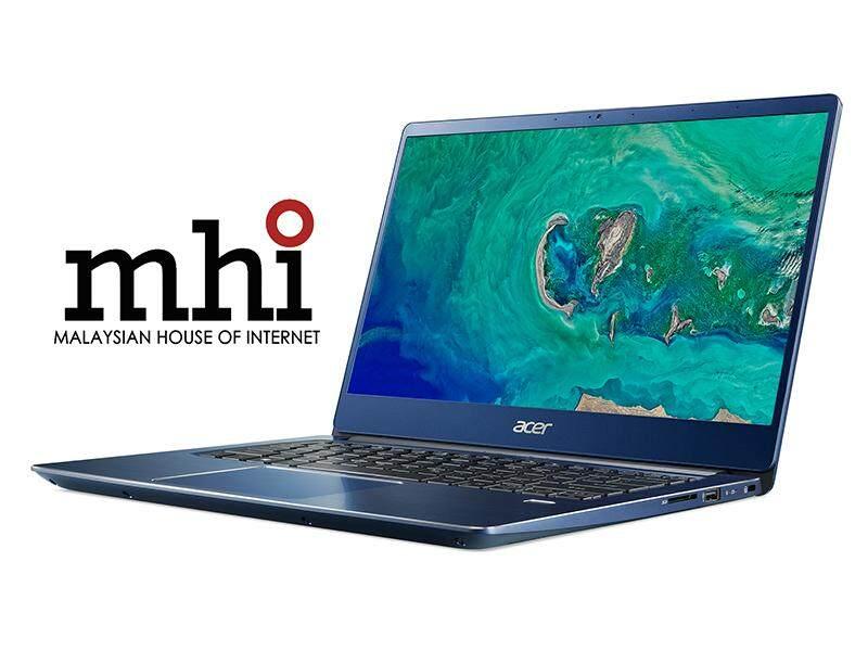 "Acer Swift 3 SF314-54-57FD 14"" FHD IPS Laptop Stellar Blue ( I5-8250U, 4GB, 128GB SSD + 1TB HDD, Intel, W10 )"