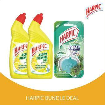 Bandingkan Harpic Active Cleaning Gel Lemon Zest 500ml X2 Value