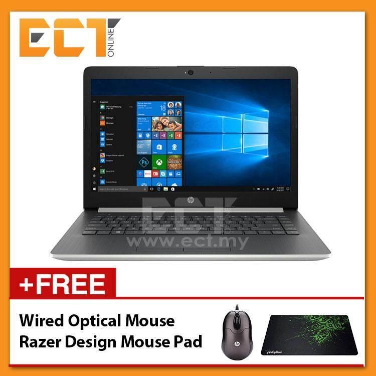 HP 14-CM0010AX Laptop (Ryzen 3-2200U 3.40GHz,1TB,4GB,ATI 520-2GB,14,W10) - Silver Malaysia