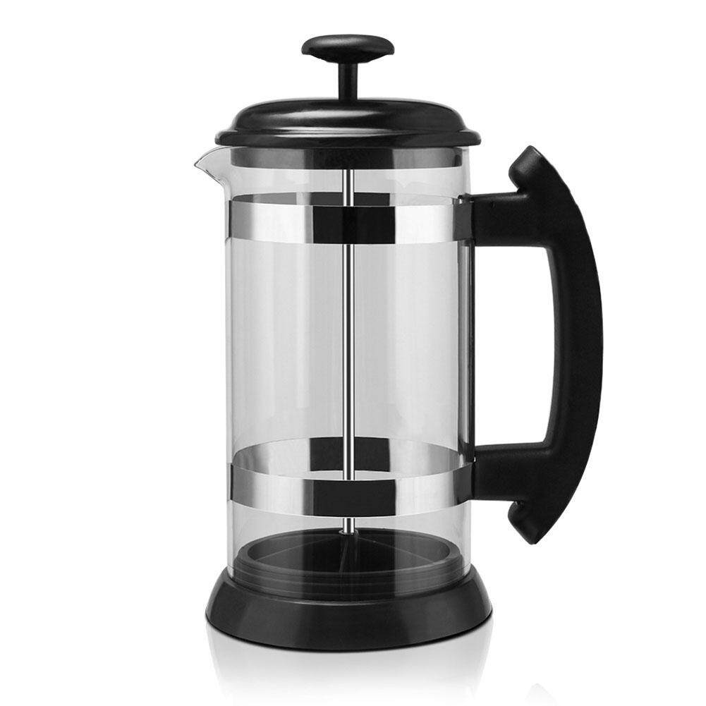 Star Mall Stainless Steel Glass Household French Press Pot Filter Cafetiere Tea Coffee Maker  Volume:500ml-1000ml