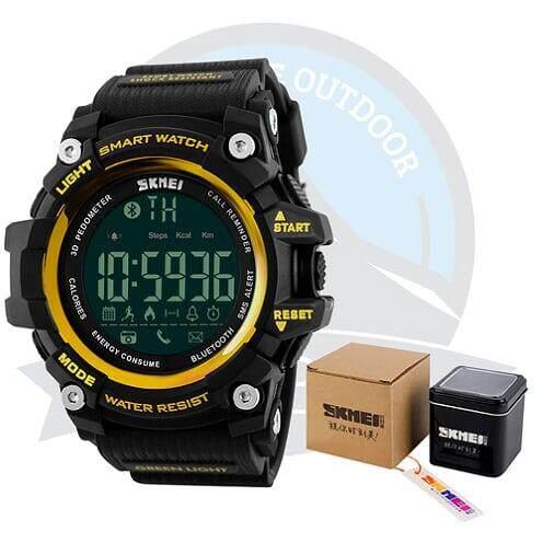 [LOCAL DELIVERY] SKMEI 1227 Smart Watch Sport Watch Waterproof Watch for Outdoor Activities - YELLOW