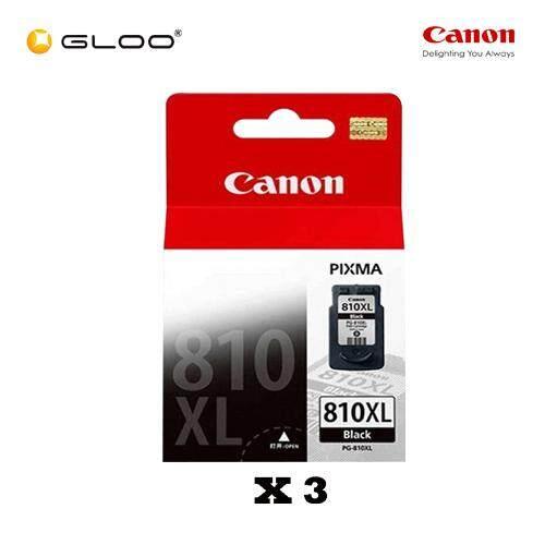 [Set of 3] Canon Fine 2 PG-810XL Ink Cartridges - Black