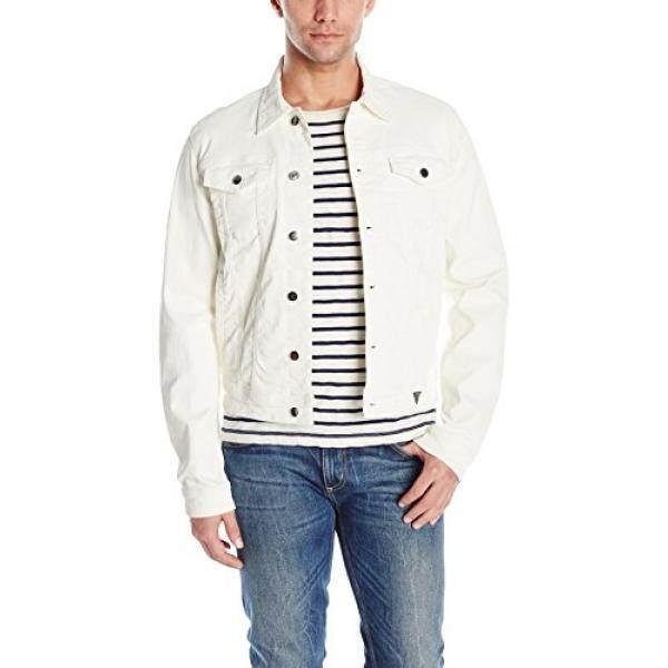 GUESS Mens Rex Denim Jacket, Extreme White, XL - intl