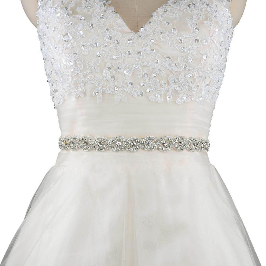 99a4697163 BolehDeals Gorgeous Crystal Rhinestone Wedding Dress Belt Bride Bridesmaid  Applique Sash Party Prom Fashion Accessory - intl