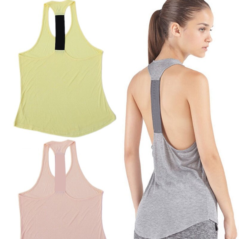 PAlight Women Quick Dry Loose Vest Fitness Tops (Grey)  dab2ee5495