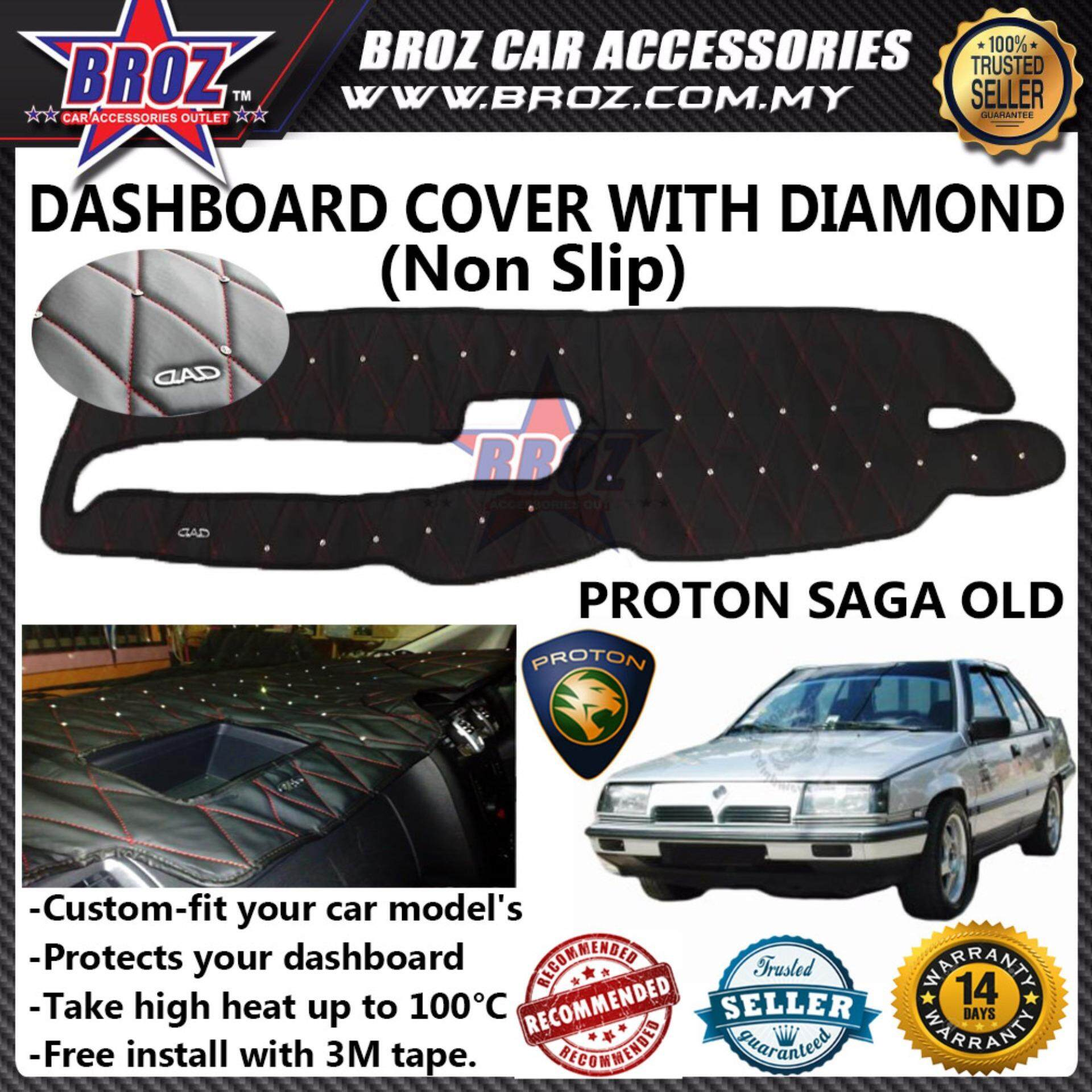Non Slip Dashboard Cover with diamond for Proton Saga Old / Iswara
