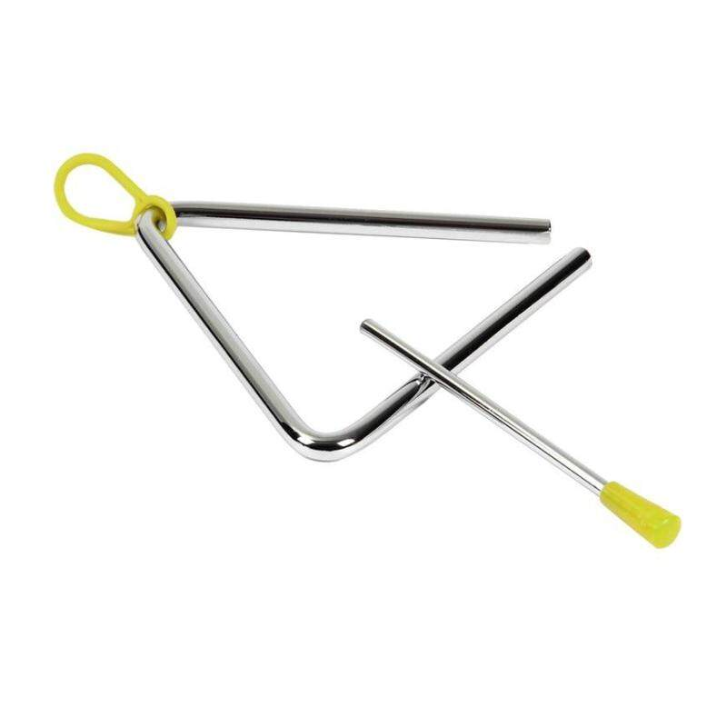 GOOD Rhythm Steel Triangle Beater Musical instruments with Stick Kids Child for Gift silver