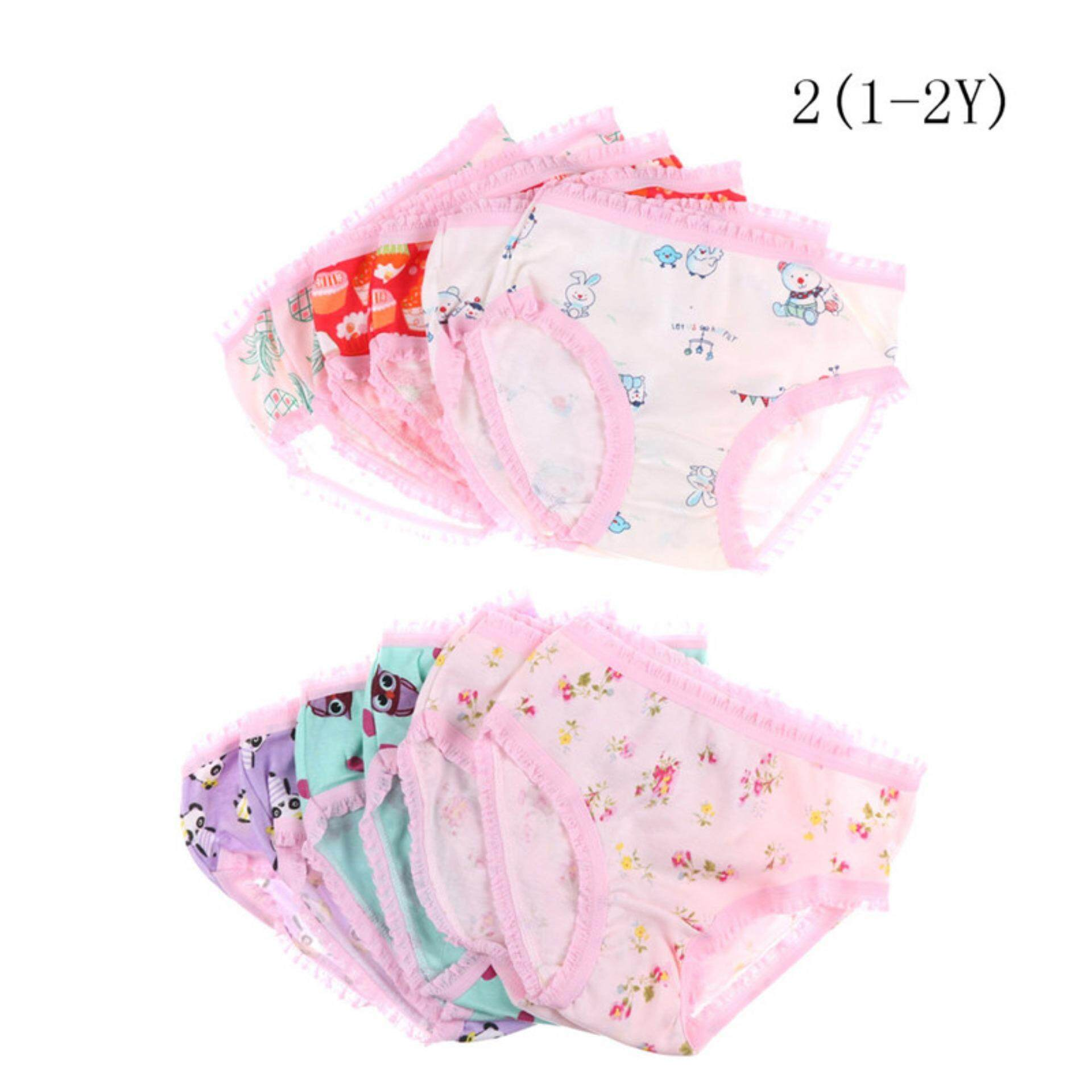 Baby Girls Soft Cotton Underwear Panties Kids Underpants Cloth Aliname By A-Liname.