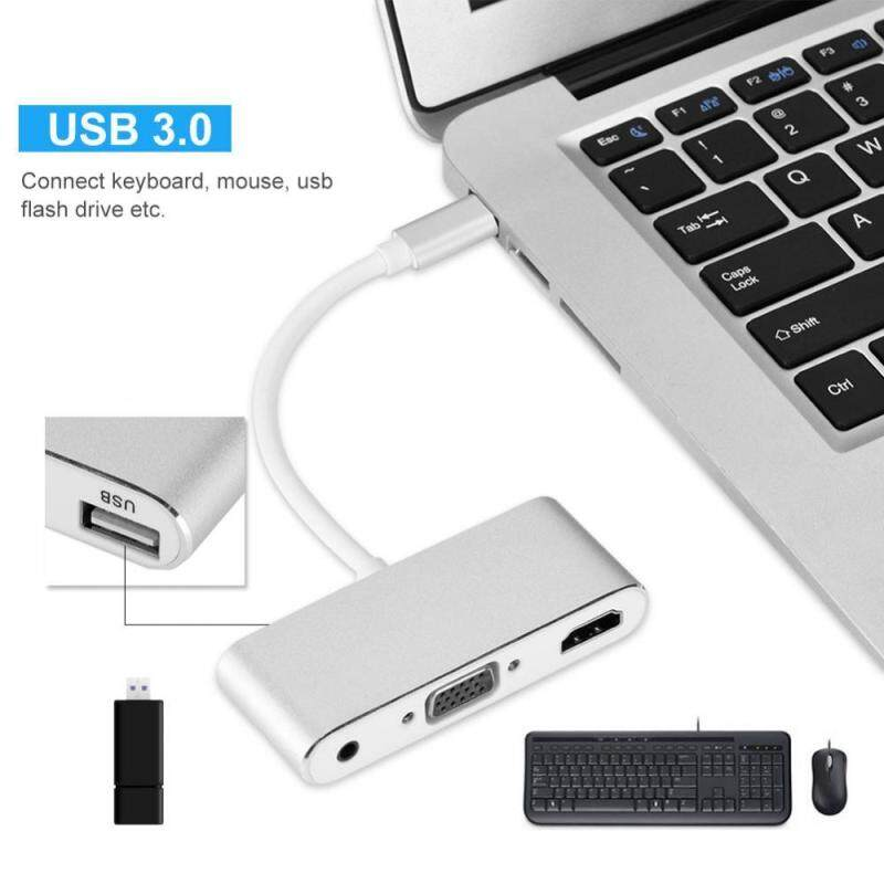Bảng giá Type-C Hub Multifunction Type-C Hub Type-C to HDMI/VGA/USB3.0/Audio Docking Station - intl Phong Vũ