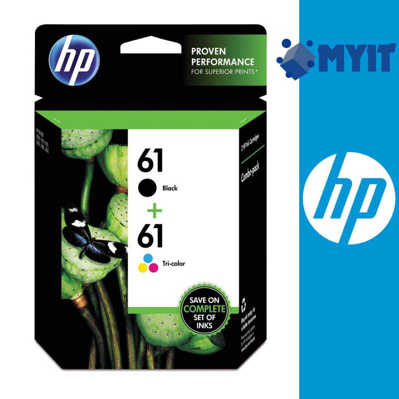 HP Original 61 Black and Color Value Combo Pack Cartridge for Deskjet Officejet Envy 1050 1510 2510 3050 4500 4630
