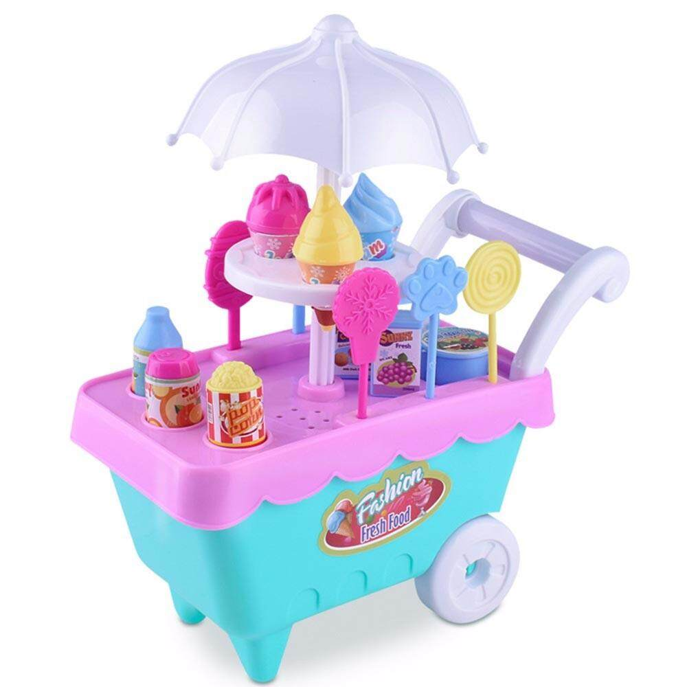 Watsonshop Children Gift Ice Cream Cart Play Set Kids Pretend Play Toy Food Toys Education By Watsonshop.