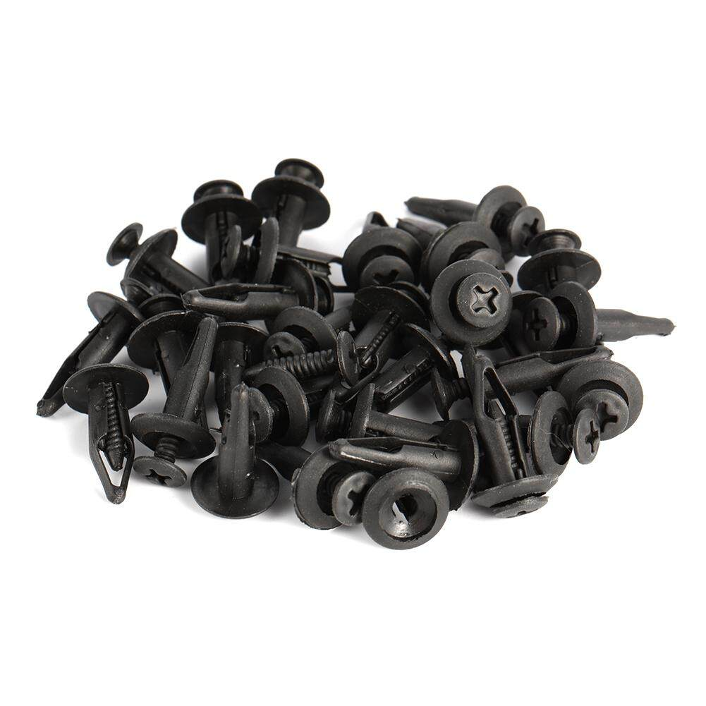 30 Pcs Plastic Push Type Rivet Retainer Fastener Bumper Pin Clips For Ford By Wangwang Store.