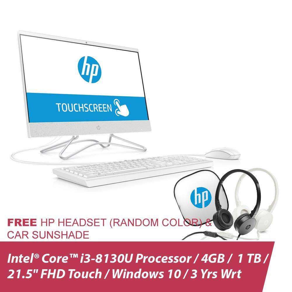 HP All-in-one Touchsmart TS 22-c0039d (Snow White) 4LY71AA + Free HP Headset