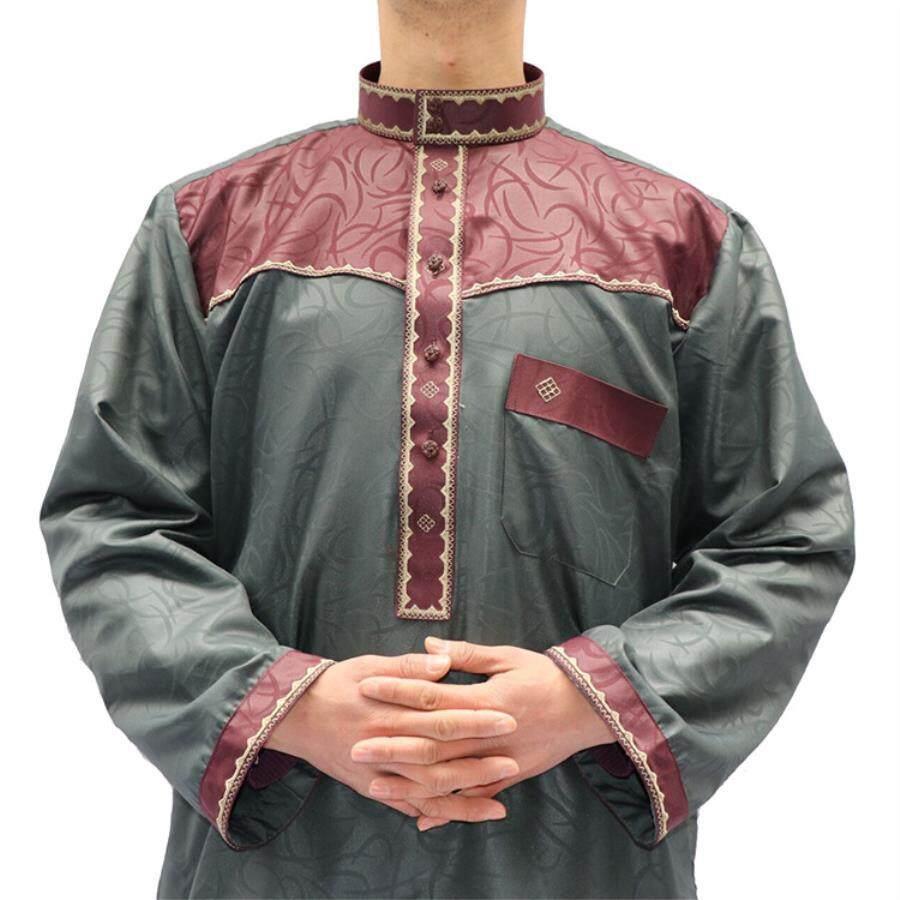 Cross Border Malaysia 2018 New Muslim Style Mens Two Piece Garment In Yiwu By Enjoy Shopping , Happy Life.