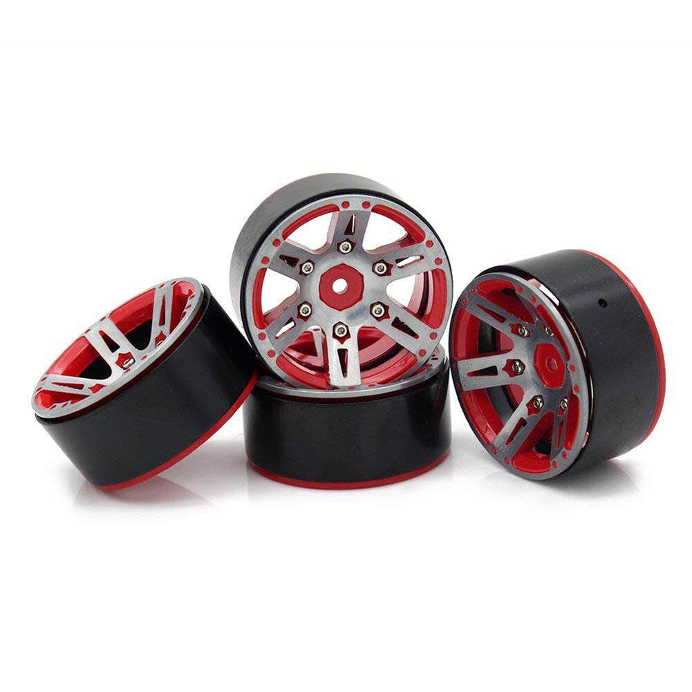 LumiParty 4PCS1/10 RC Car 1.9 Inches Alloy Wheel Hubs Imitation Wheel Boss Accessory for