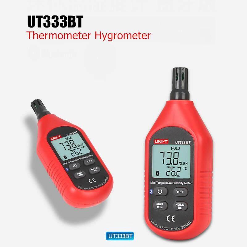 UNI-T UT333BT Bluetooth Digital LCD Termometer Higrometer Mini Suhu Pengukur Kelembaban-Internasional