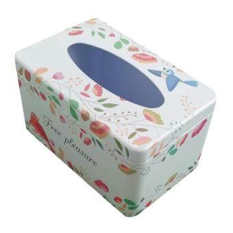 ซื้อเลย BolehDeals Napkin Paper Holder Removable Tissue Box Covers Tinplate Dinning Decor Tableware การเปรียบเทียบราคา - มีเพียง ฿126.60
