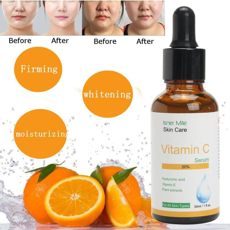 Buy 2 pcs Pure Vitamin C Hyaluronic Acid Serum 20% for Face BEST Anti Aging 30 mL Singapore