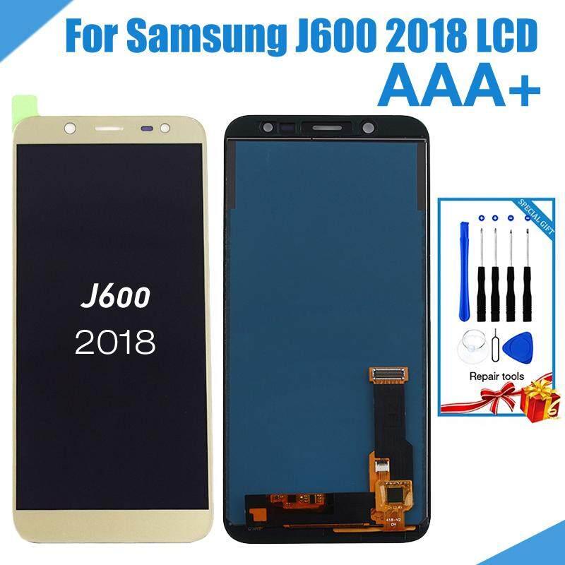 Untuk Samsung Galaxy J6 2018 J600 J600F J600Y Layar LCD Display dan Touch Kaca Pannel Perakitan TFT Versi Atur Kecerahan