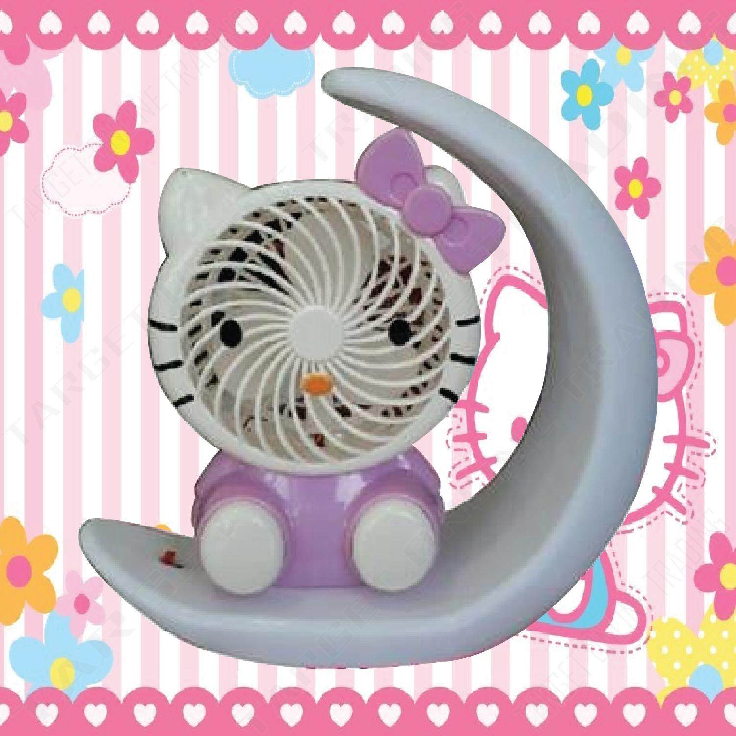 Fitur Hello Kitty Kipas Angin Mini Portable Usb Karakter Handy Fan Creative Desk Table Office Cooling Summer