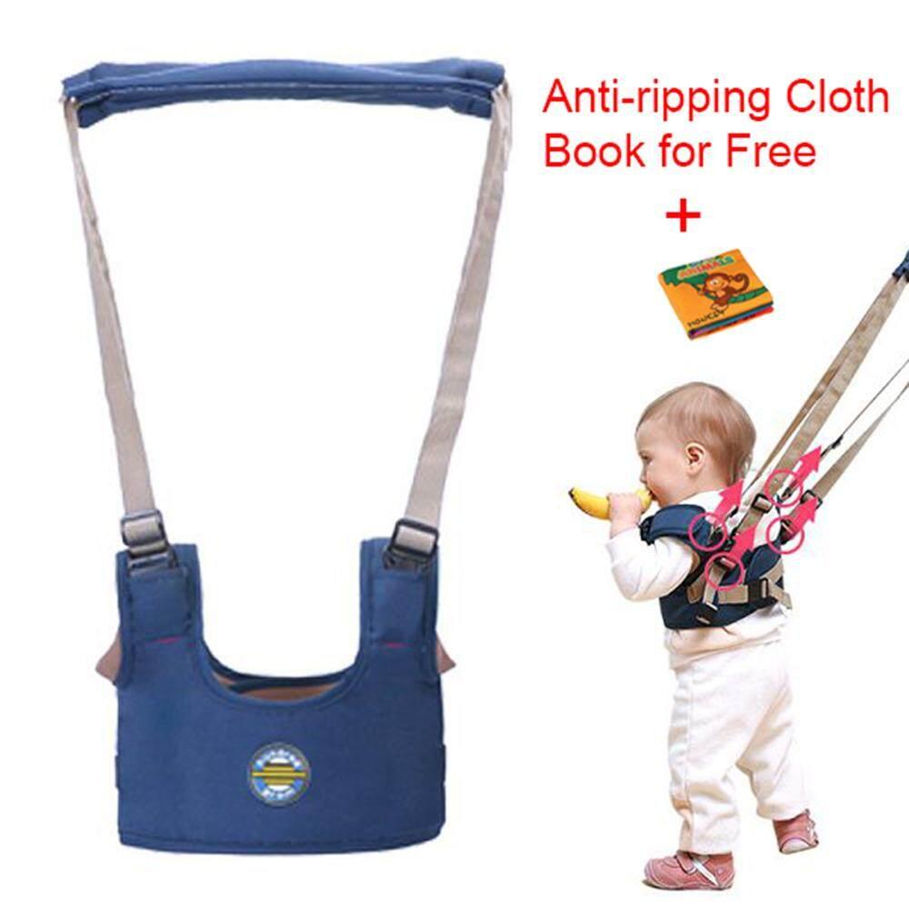 Bayi Balita Harness Moonwalk Berjalan Asisten Walker + Anti-Merobek Buku Kain untuk Belajar Awal