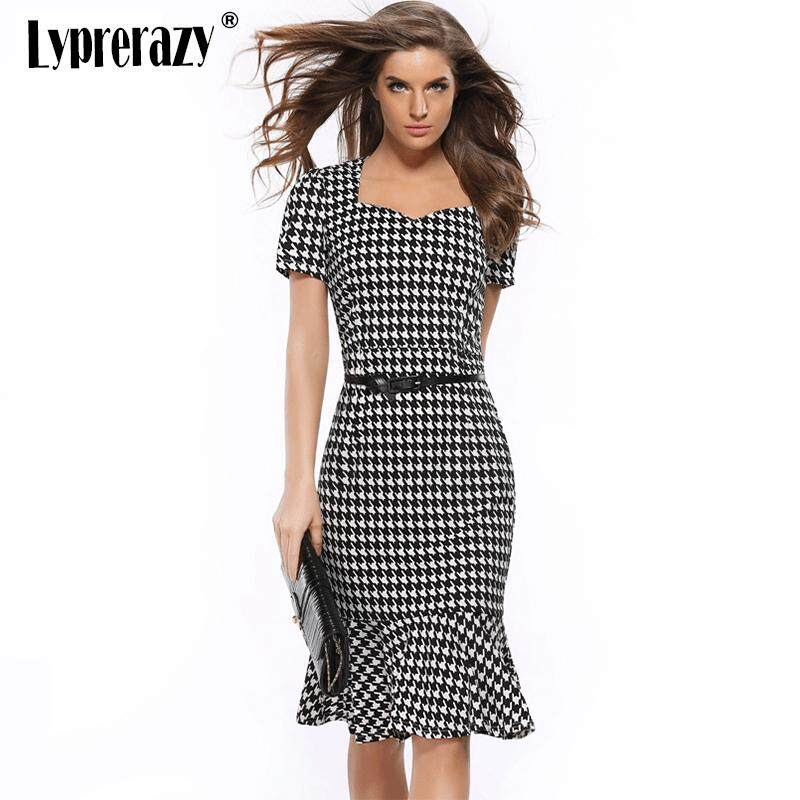 Lyprerazy Womens Elegant Vintage Autumn Mermaid Pinup Wear To Work Office  Business Casual Party Fitted Bodycon e858f4e4a8fc