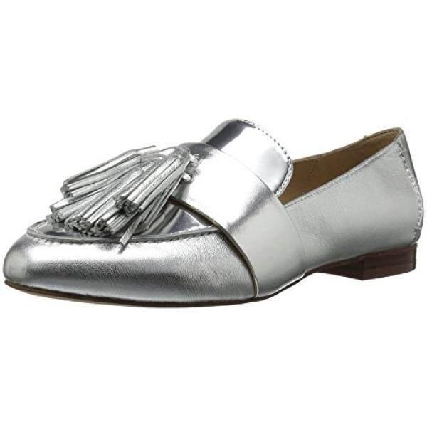 The Fix Womens Fabiana Tassel Penny Loafer, Silver/Metallic, 10 M US