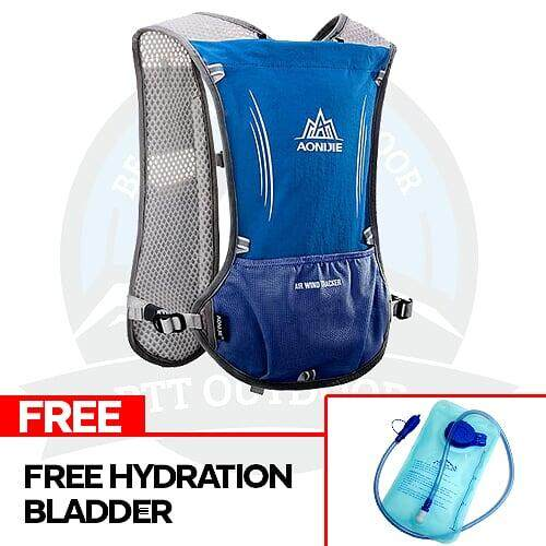 [READY STOCK] Aonijie 5L Hydration Backpack Hydration Bag Outdoor Vest Bag With Multiple Pockets - Blue