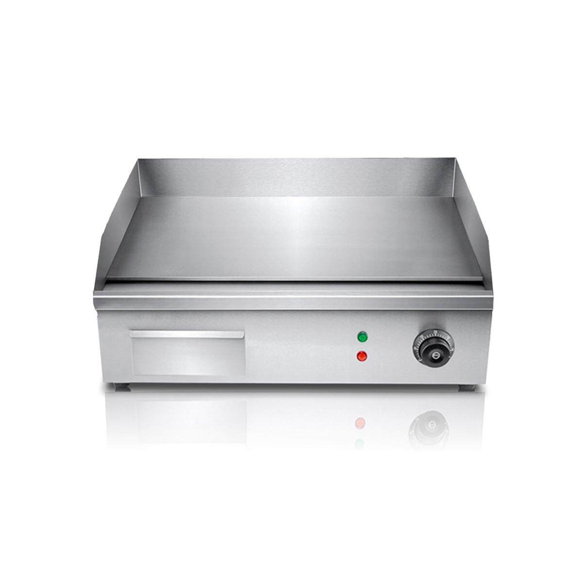 3000W Commercial Electric Griddle Plate BBQ Hot Grill Plate Stainless Steel Meat - intl
