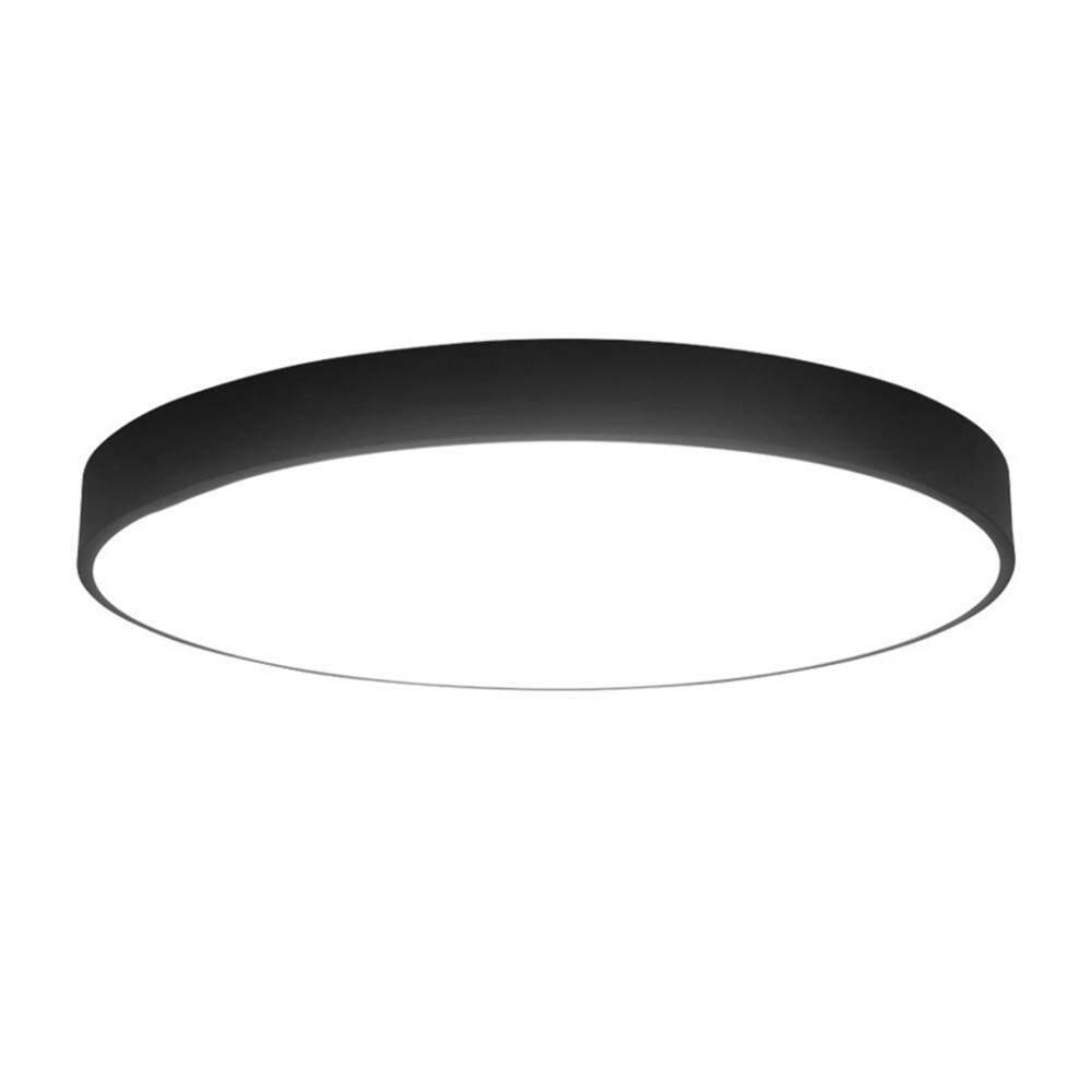 Hình ảnh Womdee Round 12-inch LED Light Flush Mount Ceiling Fixture, 15 Watt, Brushed Nickel Finish, Warm White Light - intl