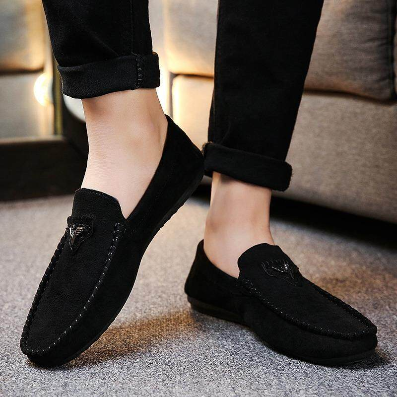 47d6fc99b01 2018 Fashion New hot Gommini Driving Shoes Men Loafers Suede Leather Mens  Boat Shoe Slip-