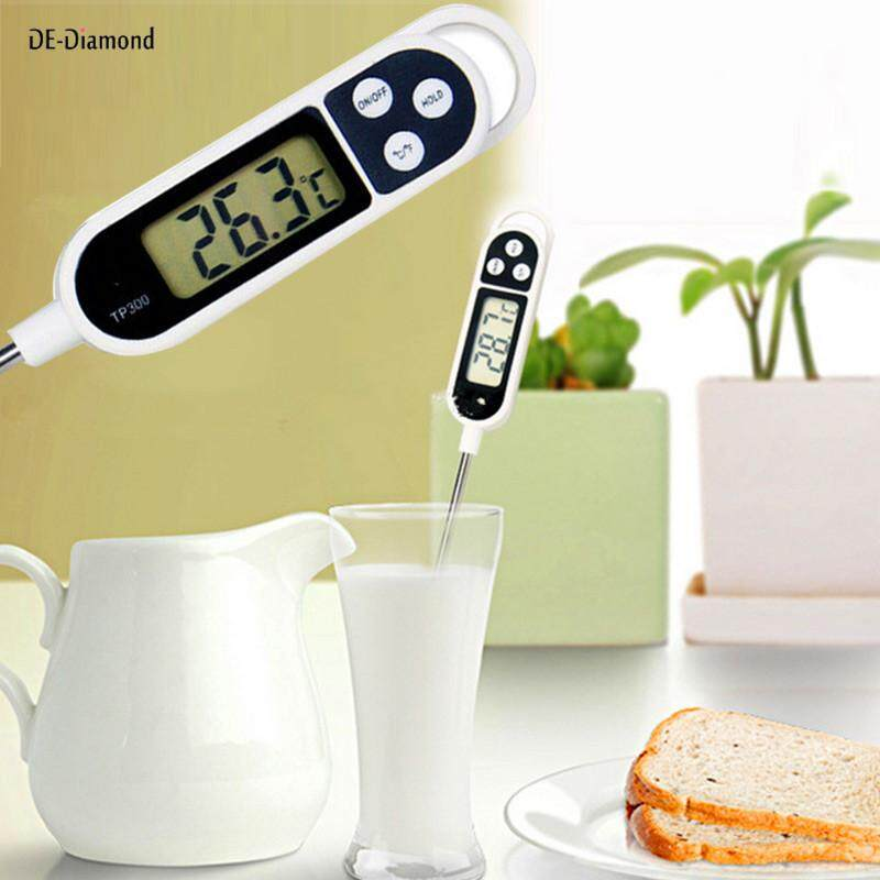 DE New Digital Food Thermometer BBQ Cooking Meat Hot Water Measure Probe