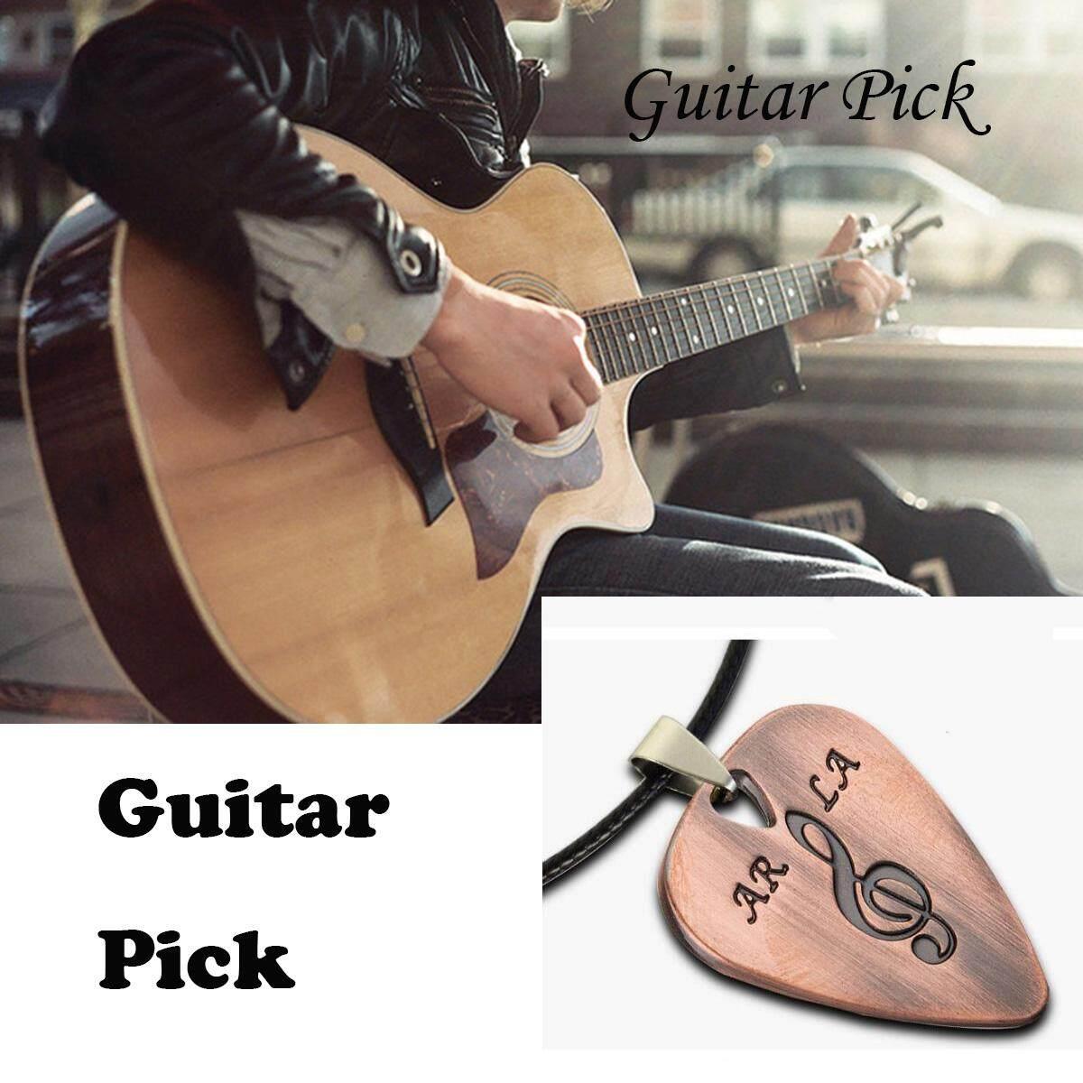 Logam Campuran Gitar Picks Pik Logam Baja Anti Karat Pilihan Gitar Bass Elektrik Pilihan Liontin Kalung