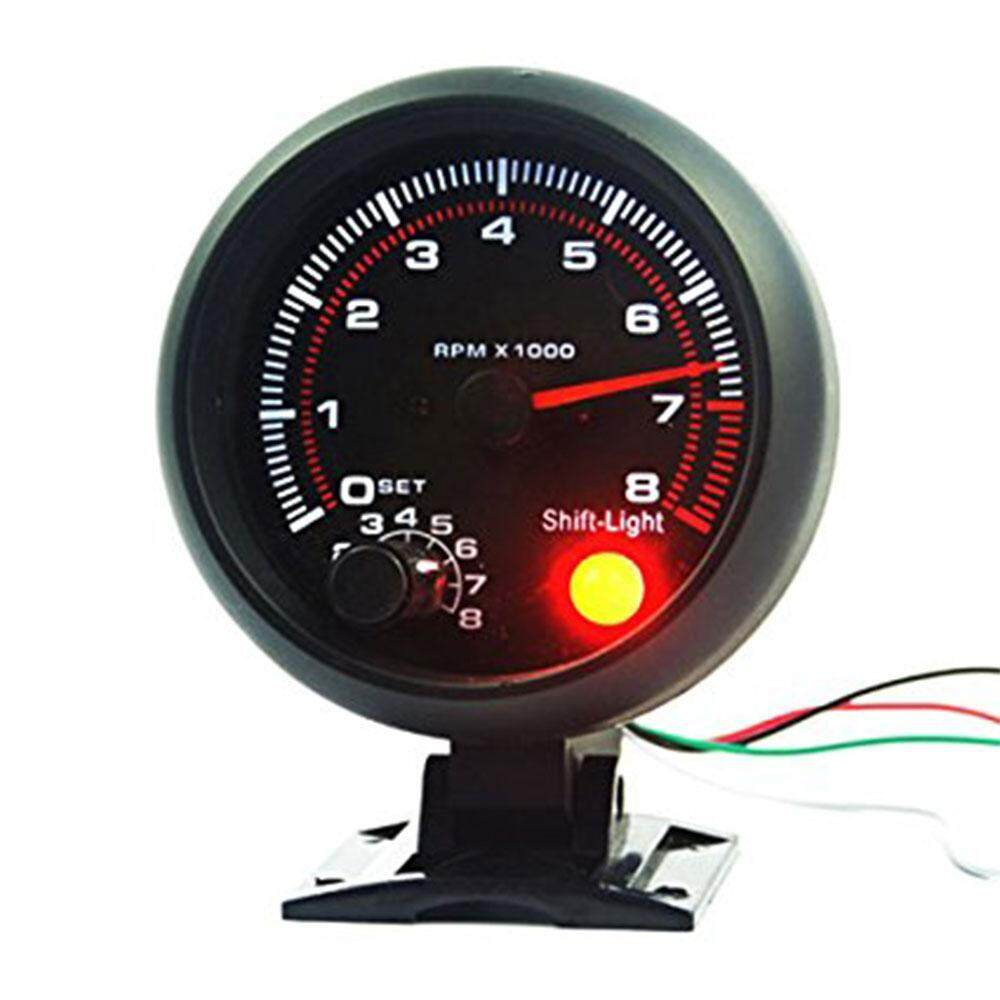 Ontwie Tachoscope Revolution Meter Durable White LED Red Shift Light Car Precision Of Speed