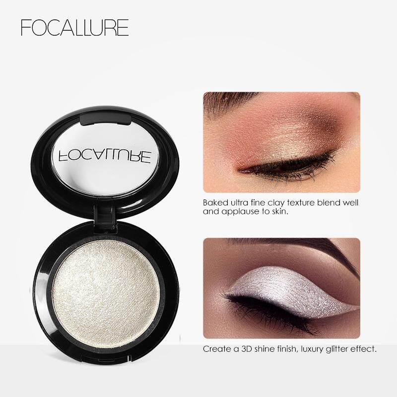 FOCALLURE Waterproof Shimmer Baked Eyeshadow Long Lasting Metal Eye Makeup #1