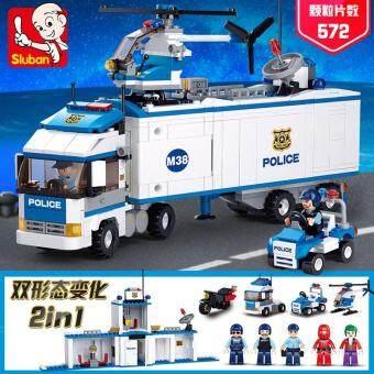 Harga preferensial SLUBAN perakitan Mainan Balok mainan mobil mainan anak anak laki-laki puzzle Mainan