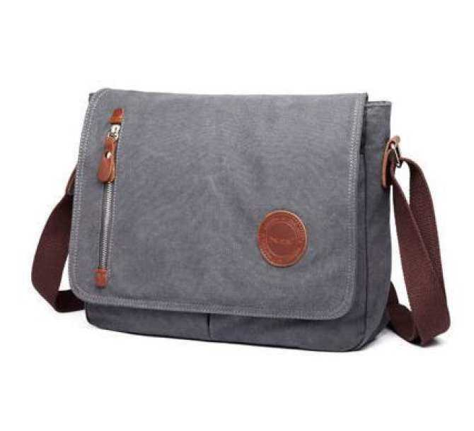 22bba0e9cc YSLMY Black Durable Fashion Vintage Canvas Messenger Bag Laptop Bag Ipad Bag  Bookbag Satchel Crossbody Bag