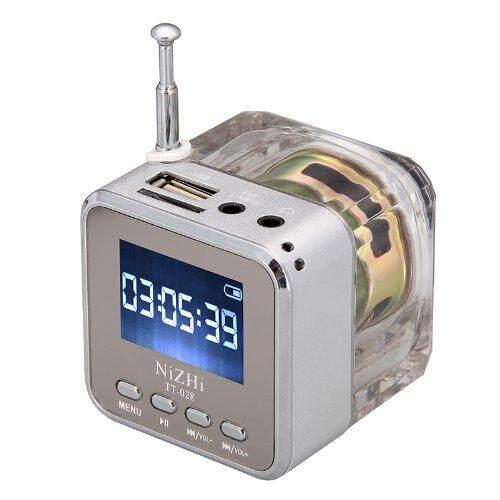Universal Mini Rumah Portabel Digital Radio Stereo Fm Radio Pada Source · Mini Musik Portabel Digital MP3 4 Player Micro SD TF Disk USB Speaker Radio