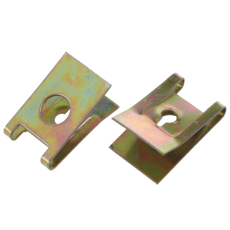 50pcs Bronze Tone Spring Metal Car Door Panel Spire Screw U-Type Clips By Yomichew.