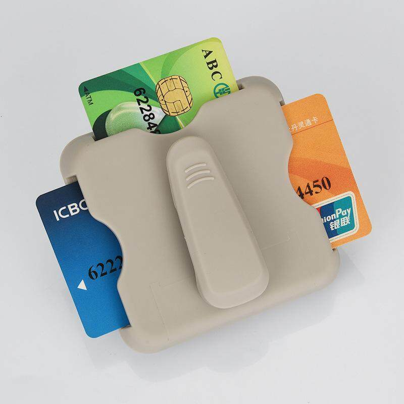 AAMILIFE Car Sunshade Card Clamp Card Card Car Clamping Card Car Multifunctional Storage Box Parking Card - intl
