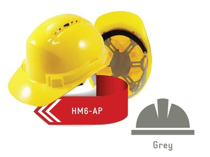 ISAF Industrial Safety Helmet c/w Pinlock, Sweatband & Chinstrap - Grey