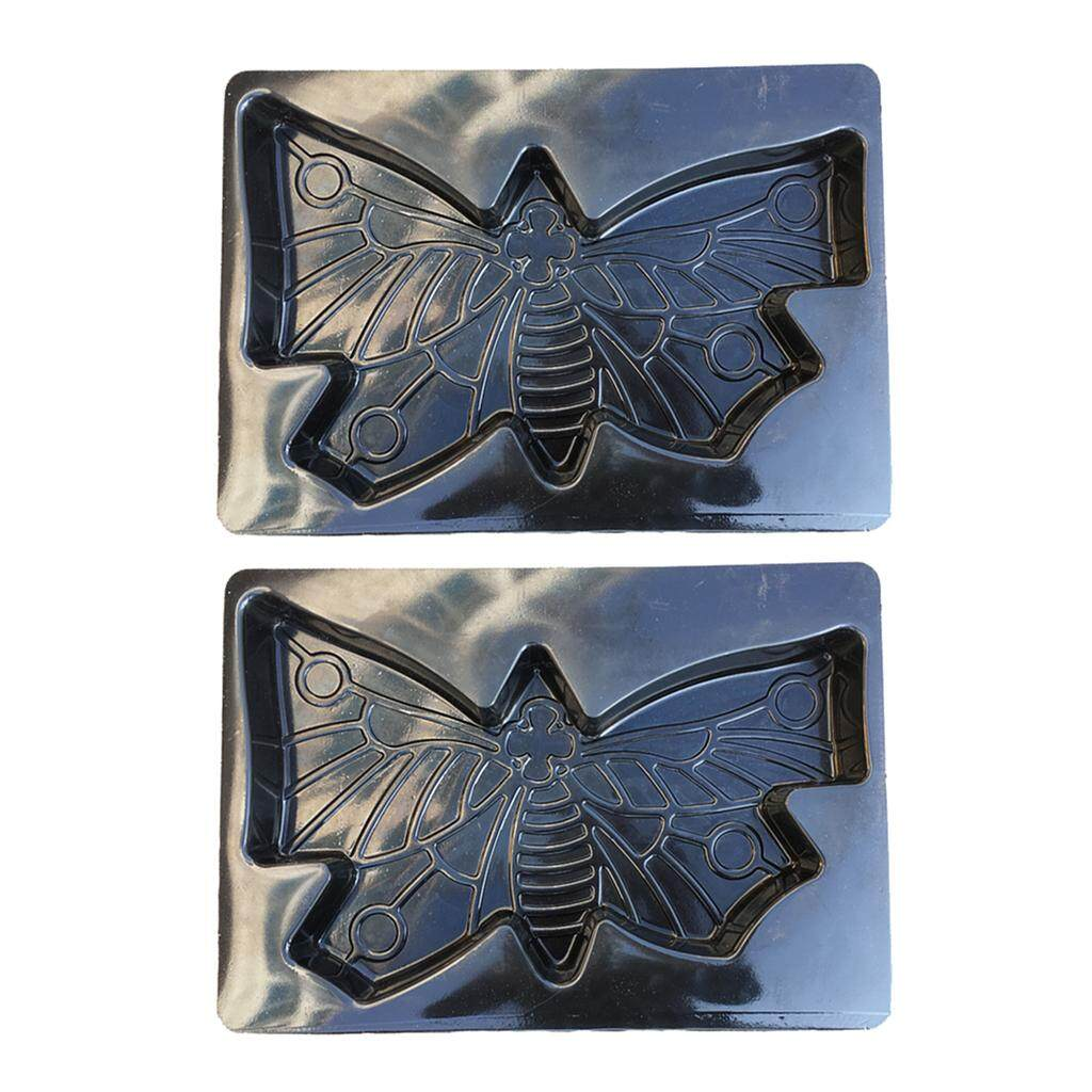 MagiDeal 2Pcs Large Butterfly Shaped Stepping Stone Plaster Concrete Mold For Garden