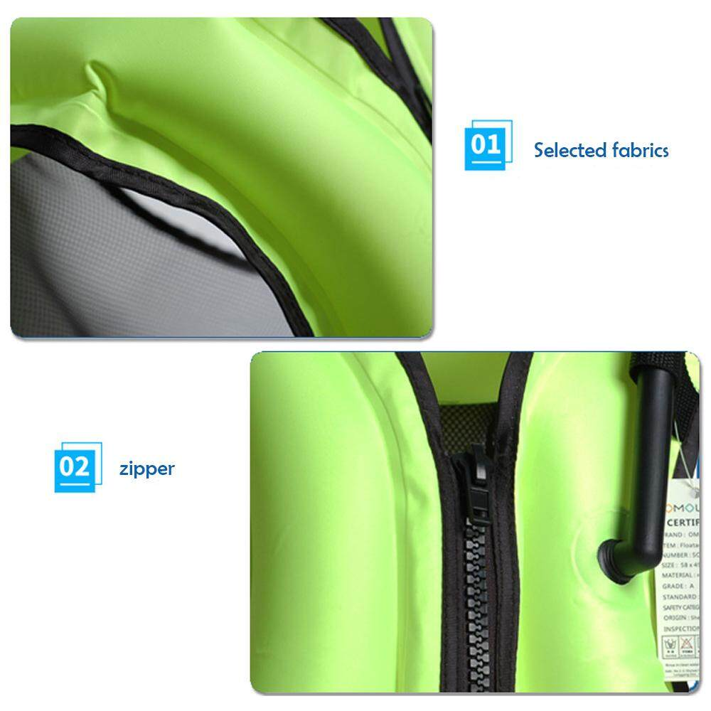 Treeone Inflatable Swimming Vest Life Jacket Snorkeling Device - 5 .