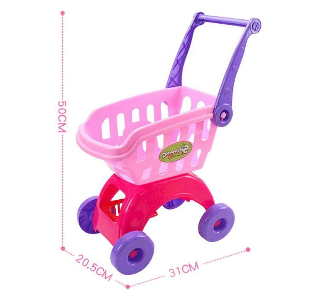 Xiang Ru 1 Pcs 31x20.5x50cm Baby Kids Supermarket Cart Simulation Shopping Trolley Toy By Small Gift Big Surprise.