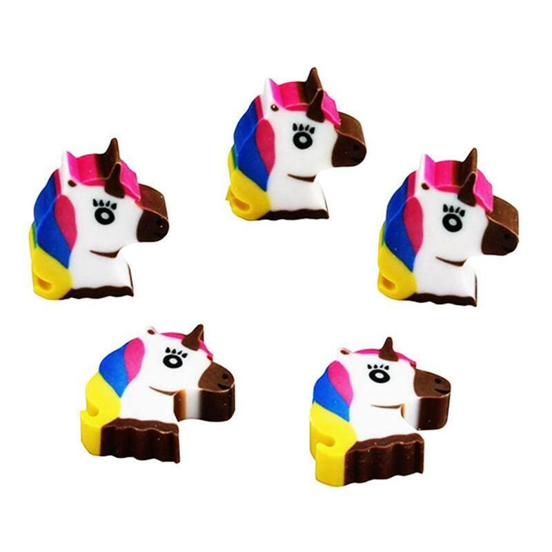 5 Pcs Linfang Mahasiswa Praktis Kartun Unicorn Pemodelan Indah Penghapus Mini