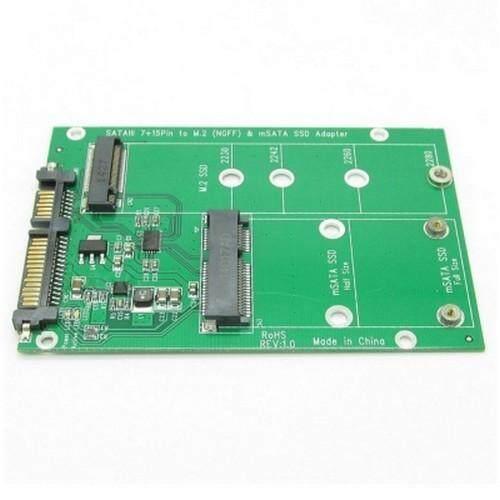 M.2 NGFF atau MSATA SSD Ke SATA 3.0 Adaptor Konverter Kartu