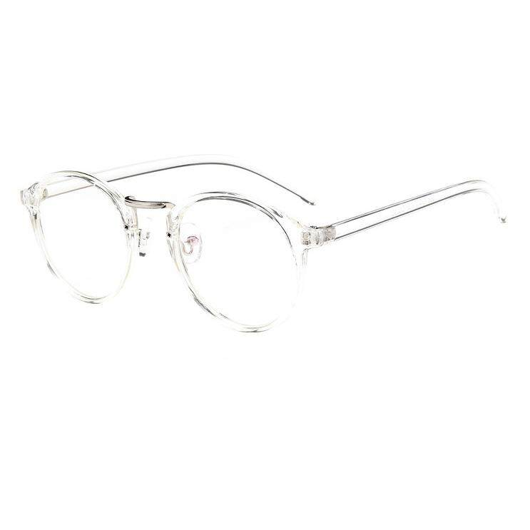 75438b73b4 Vintage Women Eyeglasses Frame Retro Full rim Spectacles Fashion Clean Lens  glasses Chic Eyewear for Women (Transparent) - intl