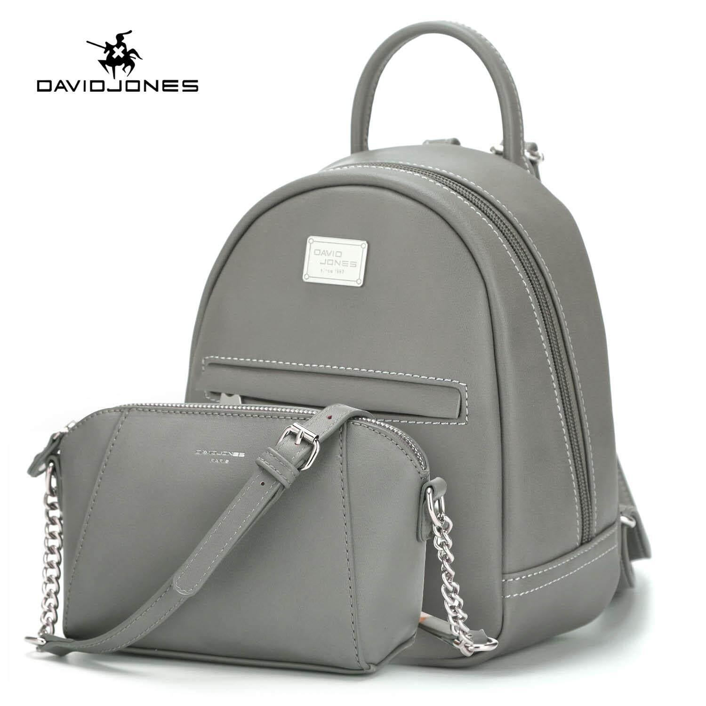 DAVIDJONES women 2 pcs composite bag pu leather female handbag large spring  chain lady shoulder bag girl summer brand messenger bag free shipping 51aeaf96294b0