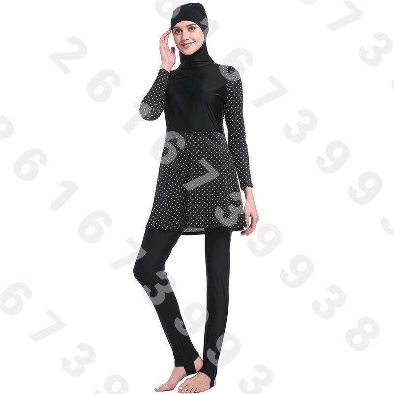3b0672cd70c 3pcs Sets Hijab Full Coverage Muslim Swimwear Islamic Bodysuit Muslim Women  Conservatism Swimsuit Arab Swimming Beachwear